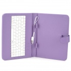 "Etui ultra-mince USB Micro clavier PU cuir 9,7 ""Tablet PC - violet + blanc"