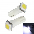 Merdia T5 0.25W 14lm SMD 5050 LED White Light Car Instrument / Brake Lamp Bulbs (12V / 2 PCS)