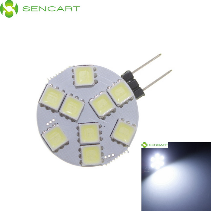 SENCART G4 MR11 2.5W 160lm 6000K 9-5060 SMD LED White Light Bulb - White + Light Yellow (9~36V)