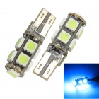 Merdia T10 5W 126lm 9 x SMD 5050 LED Error Free Canbus Ice Blue Light Car Clearance Lamp (2 PCS)