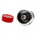 Jtron DIY Car Button Switch with LED Red Light - Red + Silver (12V / 20A)