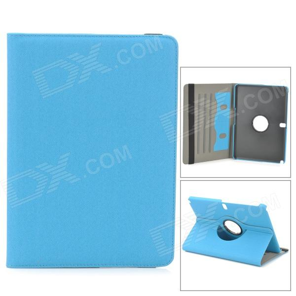 Protective 360 Degree Rotation PU Leather Case for Samsung Note 10.1 2014 Edition P601 / P600 - Blue levett caesar prostate massager for 360 degree rotation g spot