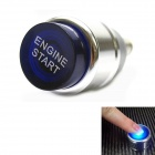 Jtron DIY Car Button Switch with LED Red Light - Blue + Silver (12V / 20A)
