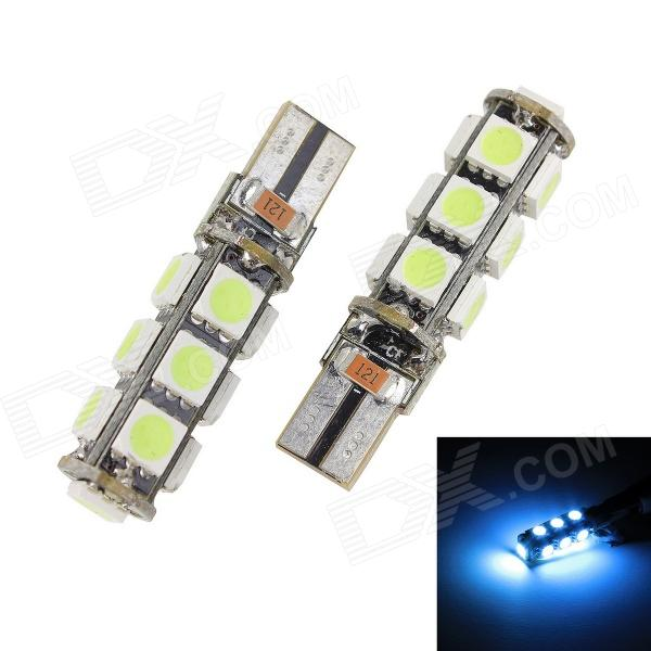 Merdia T10 3W 400lm 13 x SMD 5050 LED Error Free Canbus Ice Blue Light Car Indicator Lamp (2 PCS) merdia t10 5w 126lm 9 x smd 5050 led error free canbus red light car clearance lamp 12v 2pcs