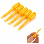 LSON ABS Large PCB Test Hook Clips - Yellow (5 PCS)