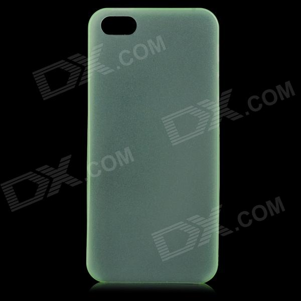 S-What 0.3mm Ultrathin Protective Frosted TPU Back Case for IPHONE 5 / 5S - Translucent Green