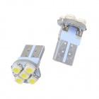 Merdia T10 2.5W 168lm 5 x SMD 3528 White Light Car Indicator Lamp (DC 12V / 2 PCS)