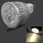 LUO L-1303 GX5.3 5W 480lm 3200K 5-SMD LED Warm White Light Lamp - Silver + White (DC 12V)