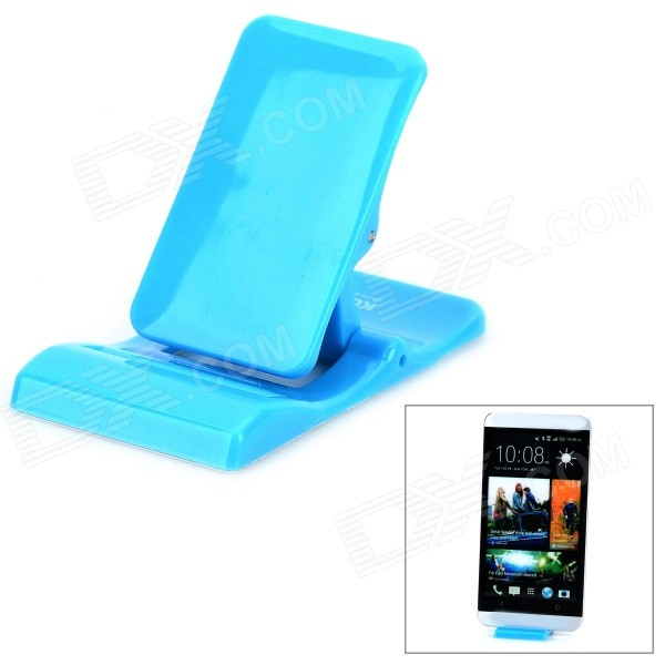 Mini Foldable Desktop Stand for Samsung / IPHONE / IPAD / IPOD - Blue maoxin cat ear desktop stand finger grip for smartphone tablets baby blue