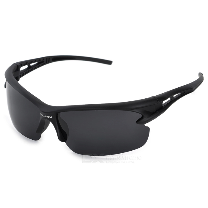 Fashion UV400 Protection Men's Sports Driving Sunglasses - Black