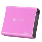 Loca NO.2-8400 8400mAh High Capacity Mini Intelligent Power Bank w/ Indicator Lamp - Pink