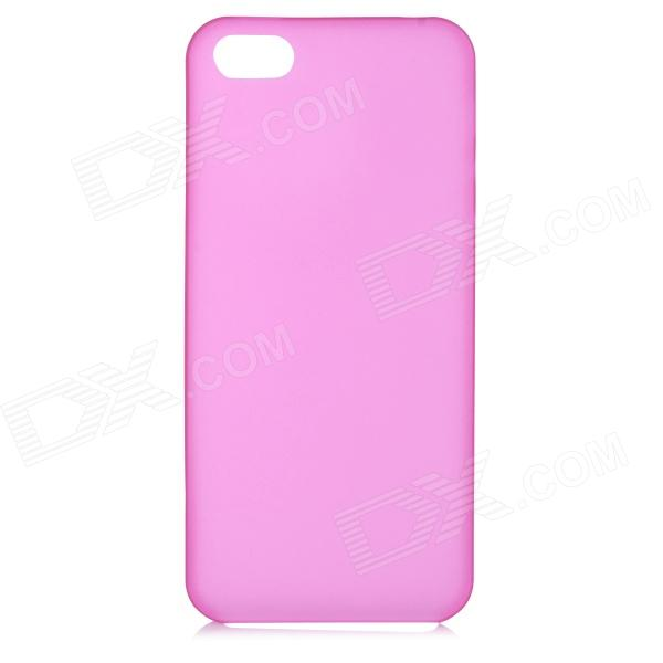 все цены на S-What 0.3mm Ultrathin Protective Frosted TPU Back Case for IPHONE 5 / 5S - Translucent Deep Pink онлайн
