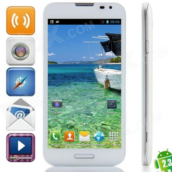 "F240W (F240) MTK6572 Dual-core Android 4.2.2 WCDMA Bar Phone w / 5,3 "", d'une connexion Wi-Fi, GPS - Blanc"