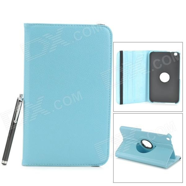 Stylish Protective PU Leather Case w/ Stylus Pen for Samsung Galaxy Tab 3 8.0 T310 / T311 - Blue