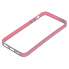 0,7 mm Ultrathin beskyttende TPU + PC støtfanger Case for IPHONE 5 / 5S - dype rosa + grå