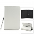 Lychee Grain Style PU Leather Case for Samsung Galaxy Tab T210 / T211 / P3100 / T2105 - White