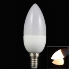 LED E14 3W 120LM 3000K 10 x 2835 SMD Warm White Candle Lamp (85~265V)