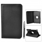 Protective Flip Open PU Leather Case w/ Stylus for Samsung Galaxy Tab 3 8.0 Tablet PC - Black