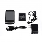 "HEDY H712 Single-Core Android 2.3.6 WCDMA Bar Phone w/ 3.5"" , Wi-Fi , Camera - Black"