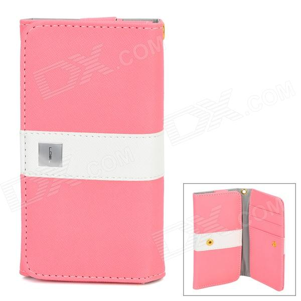 Universal Protective PU Leather Case Cover w/ Card Slots for Cellphone within 4.7