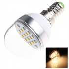 E14 6W 280lm 2500K 16 x SMD 5730 LED Warm White Light Lamp Bulb - White (AC 220~240V)