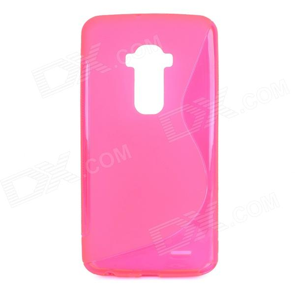 S Pattern Protective TPU Back Case for LG G Flex - Deep Pink s pattern protective tpu back case for sony xperia e1 deep pink