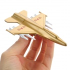 UT025 Creative Airplane Style Zinc Alloy USB2.0 Flash Drive - Golden + White (32GB)