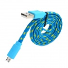 Micro-USB-Lade-/ Datenkabel für Samsung Galaxy S3 i8190 Mini / i8160 + More - Blau (85cm)