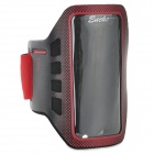 Stylish Neoprene + PVC Velcro Armband for IPHONE 5S / 5 / 5C - Red + Black