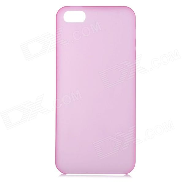 S-What 0.3mm Ultrathin Protective Frosted TPU Back Case for IPHONE 5 / 5S - Translucent Pink
