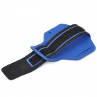 Stylish Neoprene + PVC Velcro Armband for IPHONE 5S / 5 / 5C - Blue + Black