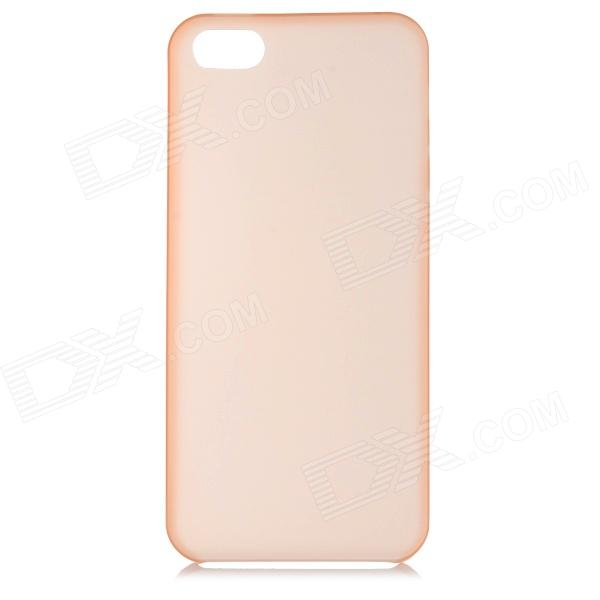 S-What 0.3mm Ultrathin Protective Frosted TPU Back Case for IPHONE 5 / 5S - Translucent Orange