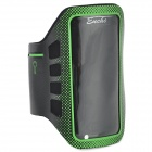 Convenient Stylish Neoprene + PVC Velcro Armband for IPHONE 5 / 5S / 5C - Green + Black