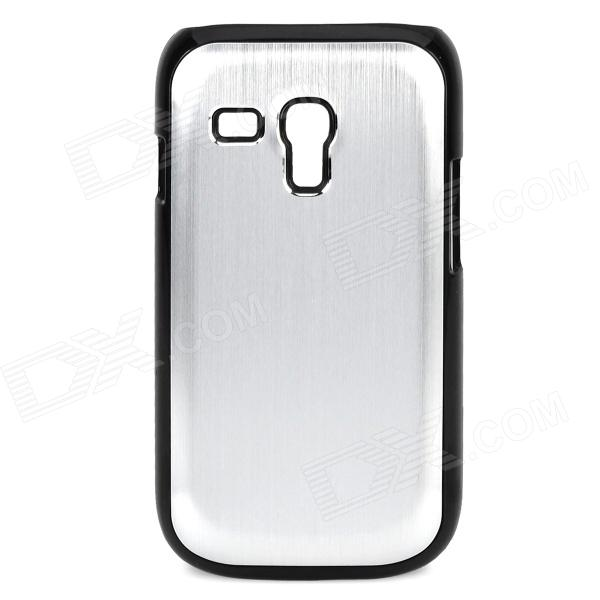 где купить  Protective Aluminum Alloy + Plastic Back Case for Samsung Galaxy S3 Mini / i8190 - Silver  дешево