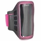 Convenient Stylish Neoprene + PVC Velcro Armband for IPHONE 5 / 5S / 5C - Deep Pink + Black