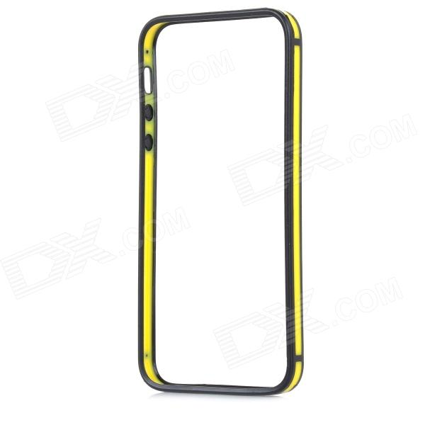 0.7mm Ultrathin Protective TPU + PC Bumper Case for IPHONE 5 / 5S - Yellow + Black