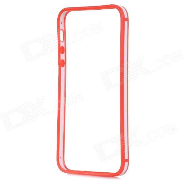 0.7mm Ultrathin Protective TPU + PC Bumper Case for IPHONE 5 / 5S - Red + White