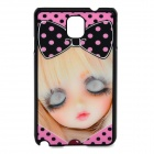 3D Girl Pattern Protective ABS + PC Back Case for Samsung Galaxy Note 3 - Black + Pink