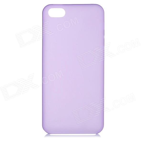 S-What 0.3mm Ultrathin Protective Frosted TPU Back Case for IPHONE 5 / 5S - Translucent Purple s what 0 3mm ultrathin protective frosted tpu back case for iphone 5 5s translucent red