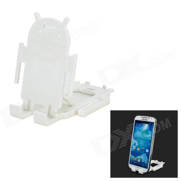 Mini Plastic Desktop Cellphone Holder Stand - White