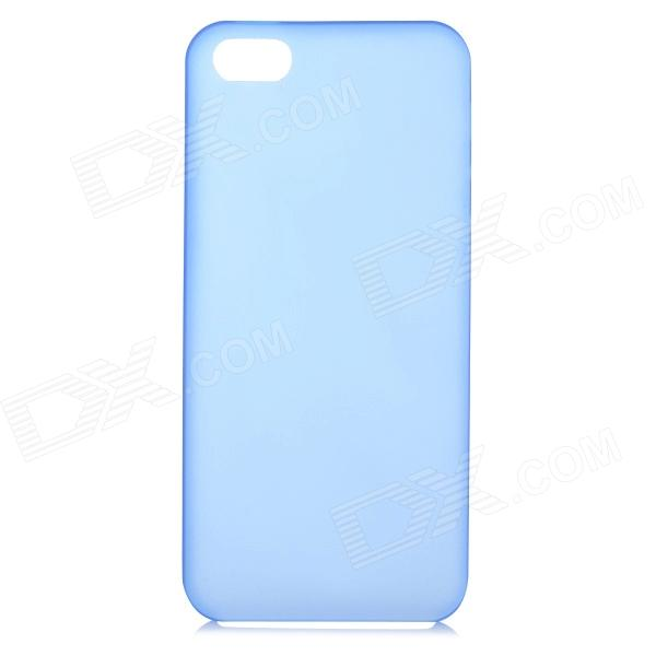 S-What Protective Back Case for IPHONE SE / 5 / 5S - Translucent Blue