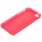 S-What Protective Back Case for IPHONE SE / 5 / 5S - Translucent Red