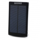 1BA-2 ''10000mAh'' Dual USB Solar Power Bank for IPHONE / IPAD / IPOD / HTC / Samsung - Black