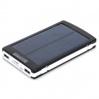 1BA-2 '' 10000mAh'' Dual USB Solar Power Bank pour IPHONE / IPAD / IPOD / HTC / Samsung - noir