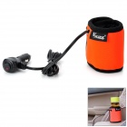Multi-Functional Car Electronic Drink Warmer Holder - Orange + Black
