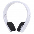 BH-600 Folding Design Bluetooth V3.0 Stereo Headphones w/ Mic / USB - White