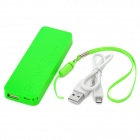 Universal 2800mAh Perfume Mobile Power Bank w/ LED for IPHONE 4 / 4S / 5 / 5S + More - Green
