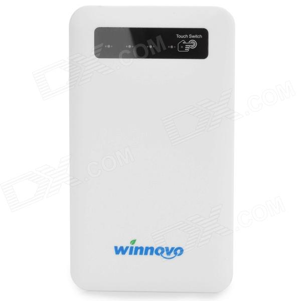 Winnovo WMP-22K Mini Portable Universal 4000mAh Mobile Power Bank for Samsung / HTC - White portable 6000mah power bank w flashlight for mobile tablet pc more pink white