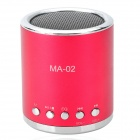 MA-02 Mini MP3 Speaker w/ TF / U-flash / FM - Wine Red