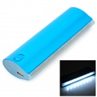 "S-Was ""12000mAh"" Mobile Power Bank-w / LED-Taschenlampe - Blau + Weiß"
